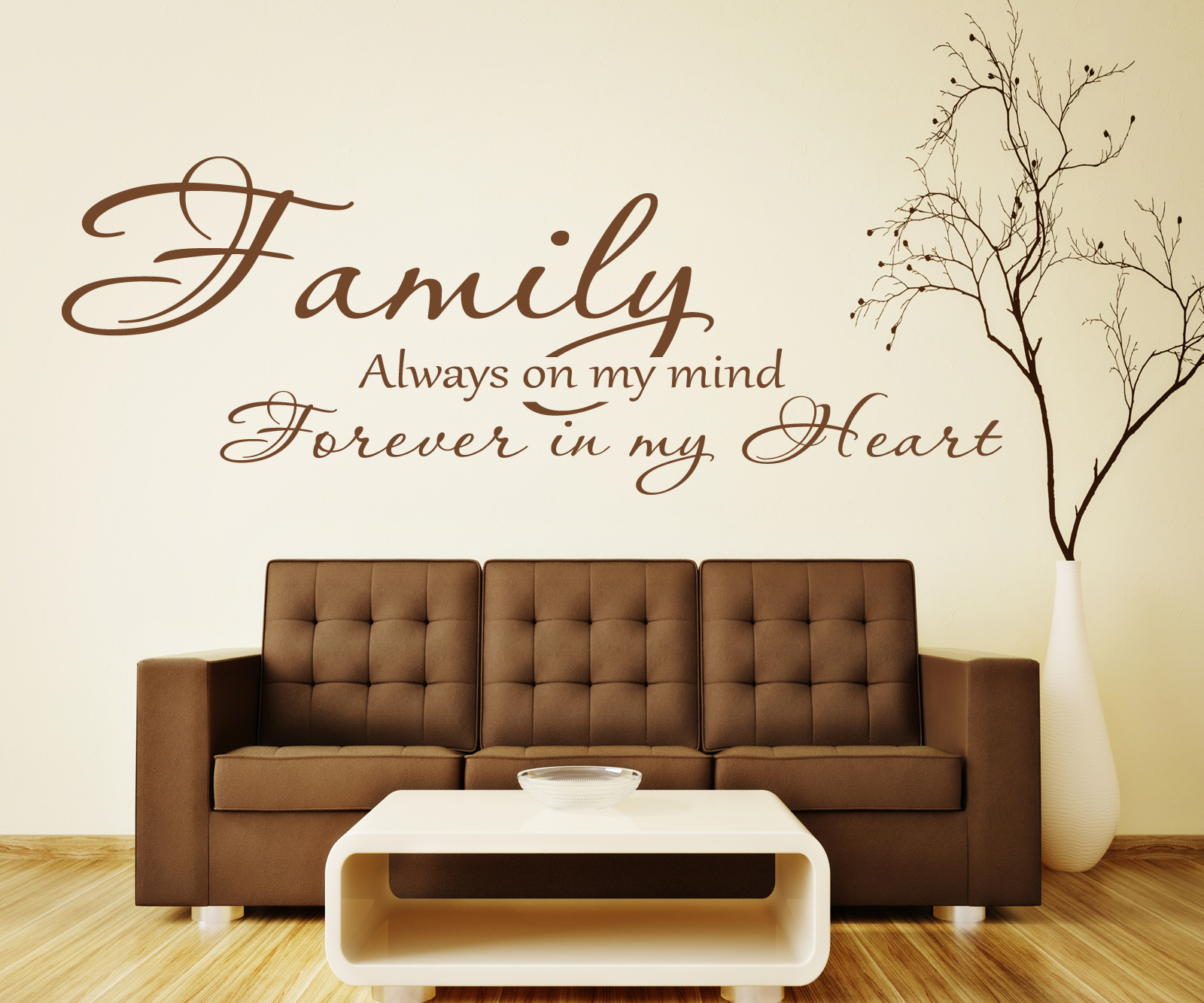BEDROOM LOVE WALL ART DECAL X286 FAMILY FOREVER IN MY HEART WALL STICKER QUOTE
