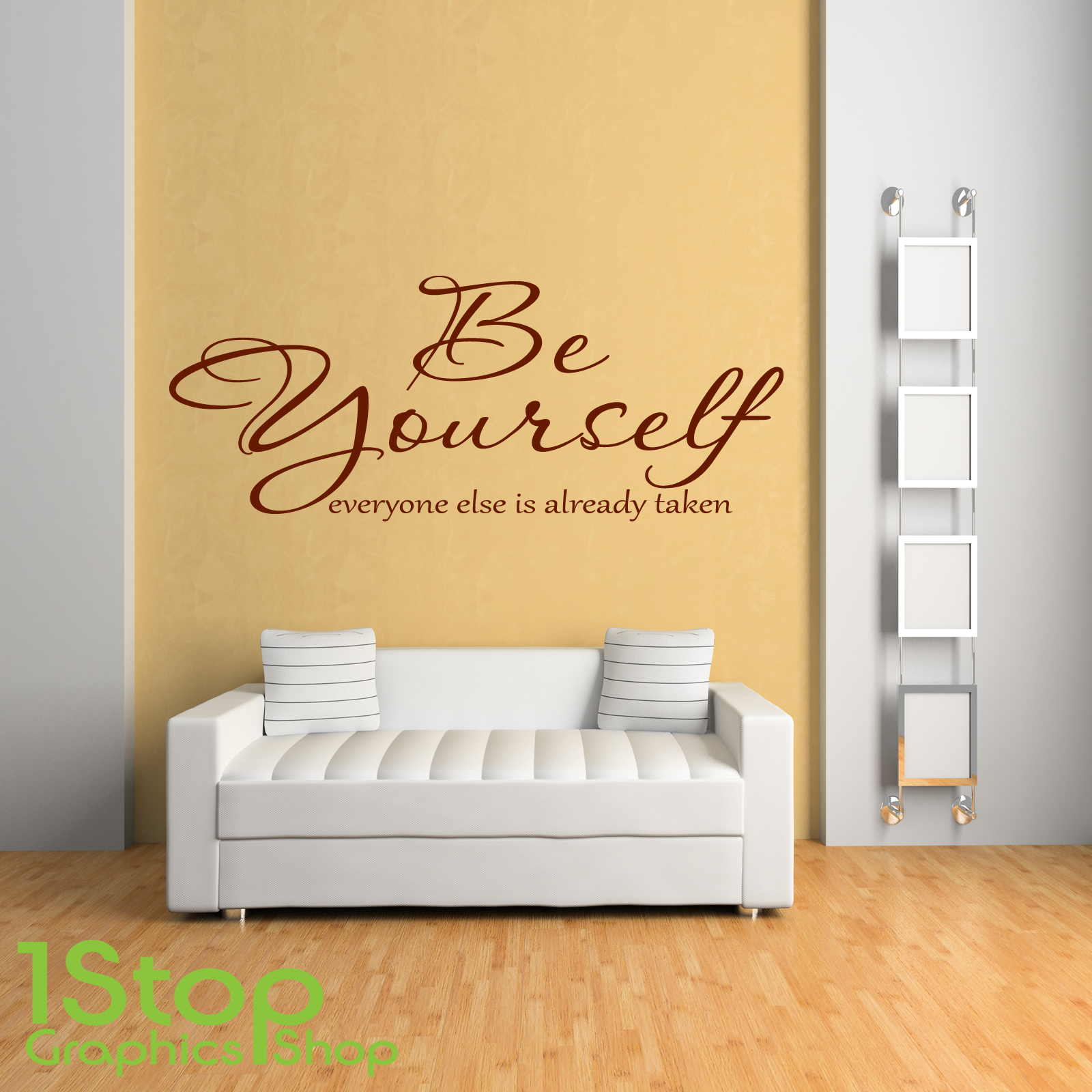 BE YOURSELF WALL STICKER QUOTE - HOME BEDROOM WALL ART DECAL X76 | eBay