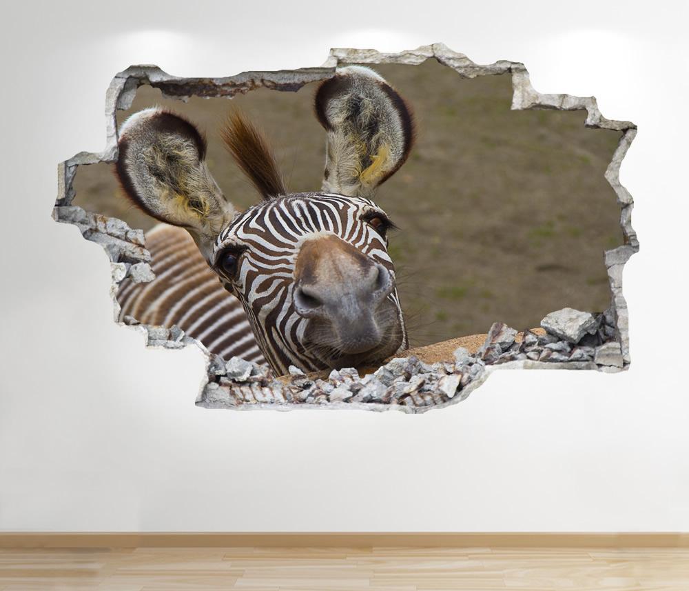Tiger Tramonto Adesivo da Parete 3D Look Salotto Camera Letto Natura Animale