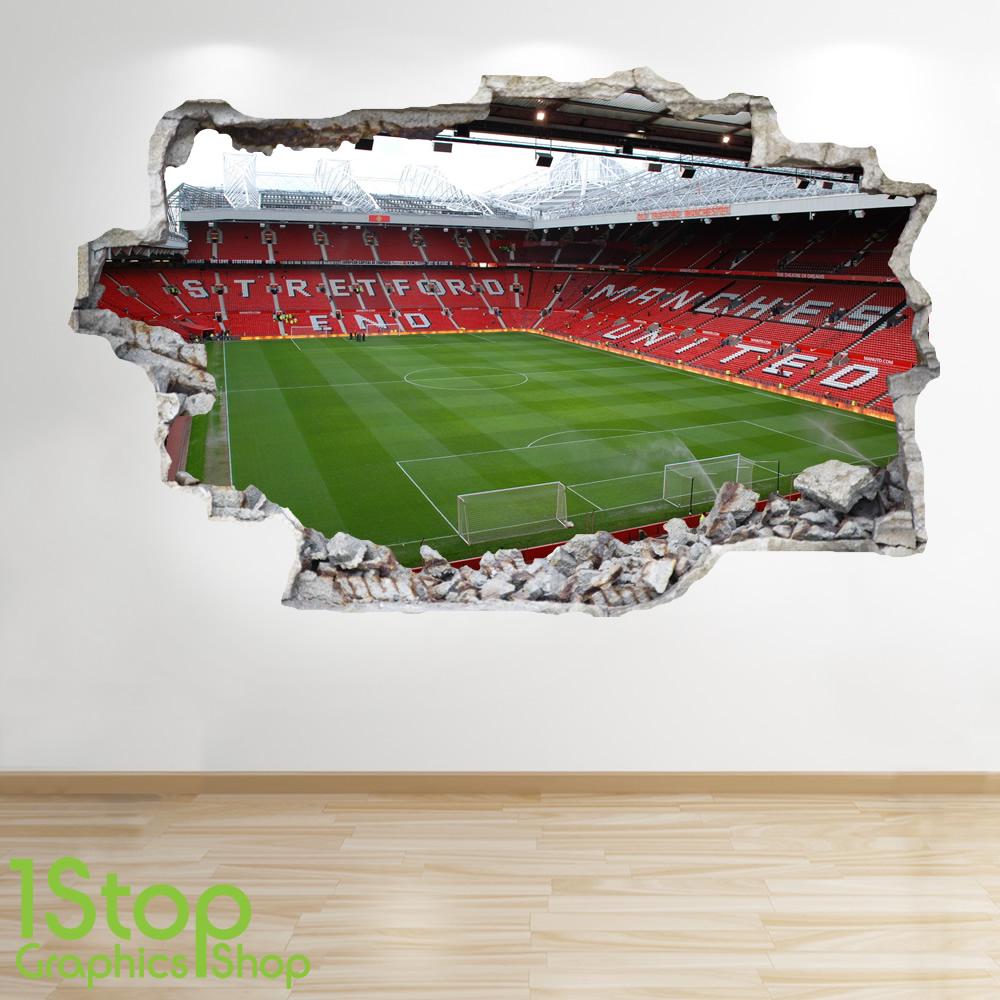 47088615 Awesome photo football stadium kids boys bedroom wall sticker
